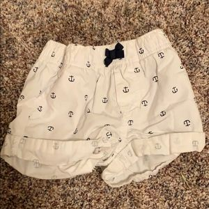 Carters white shorts with blue anchors